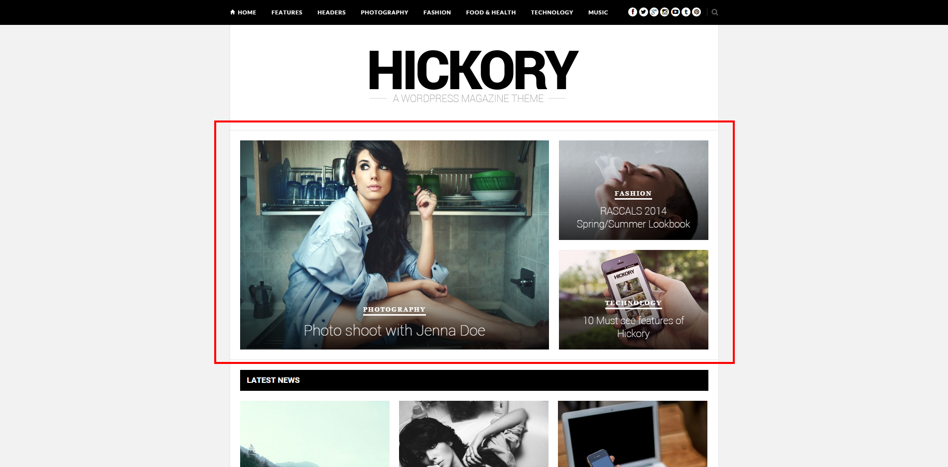 Hickory Featured Area Screenshot #1