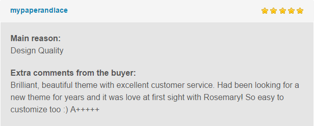rose review1 - Rosemary - A Responsive WordPress Blog Theme