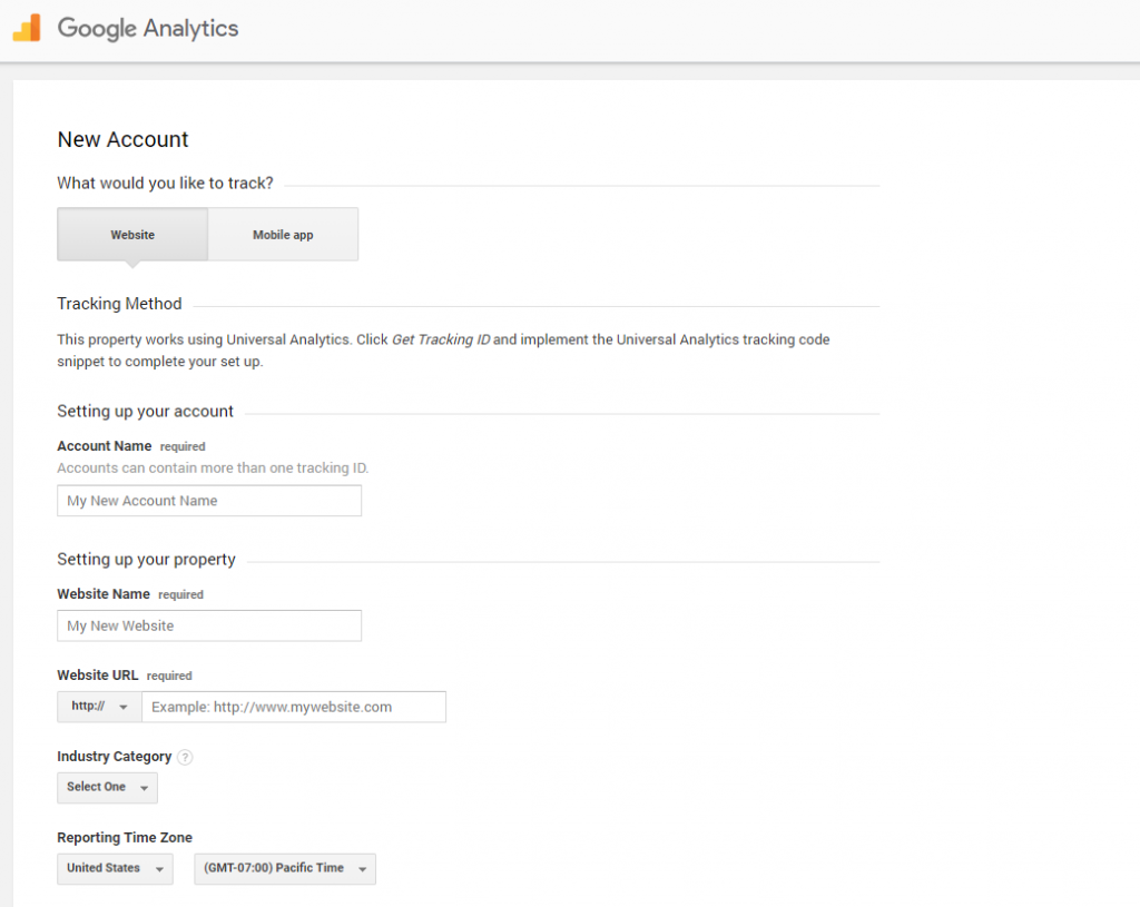 Google Analytics Info